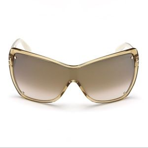 Tom Ford Ekaterina Shield Sunglasses Beige